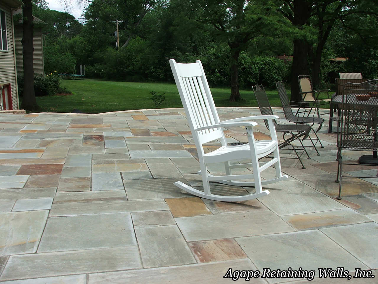 ... natural stone paver patio to a long line of incredible hardscape  projects we at Agape Retaining Walls, Inc. have designed and installed over  the years. - Agape Paver Pictures 3