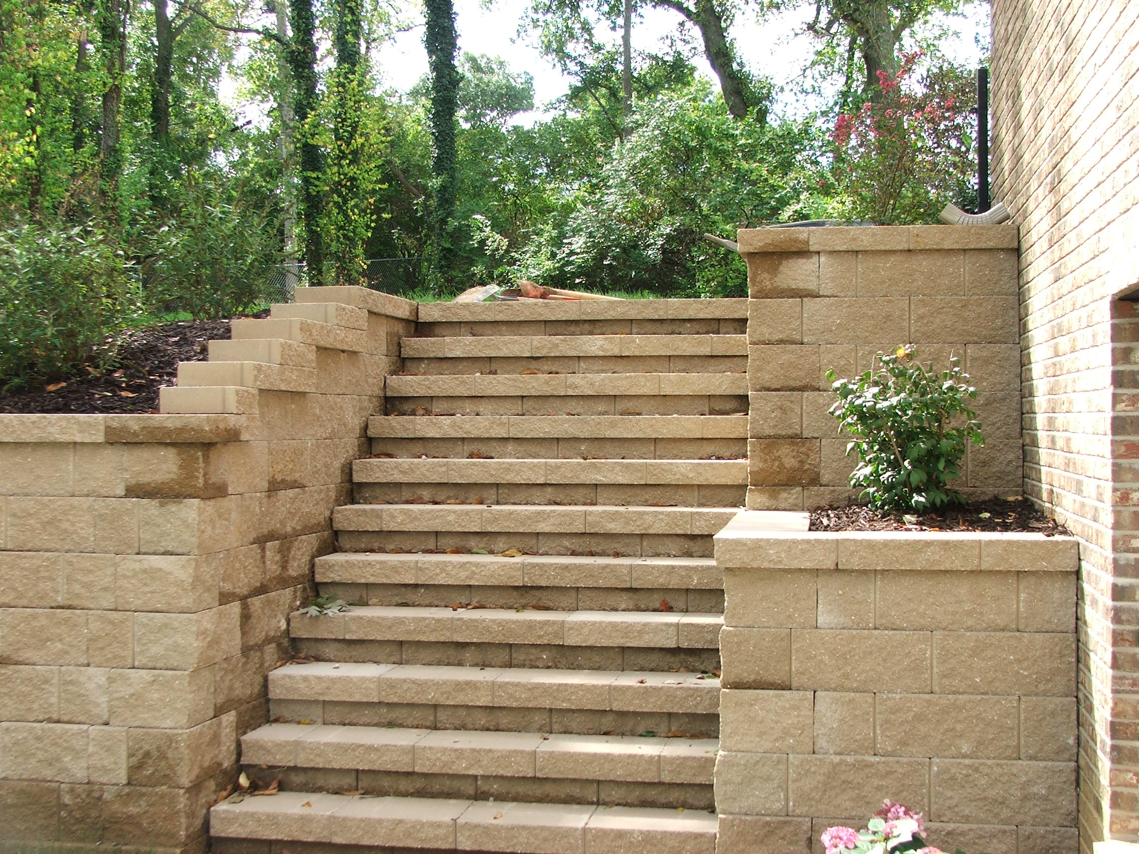 Image result for stairs set in hillside