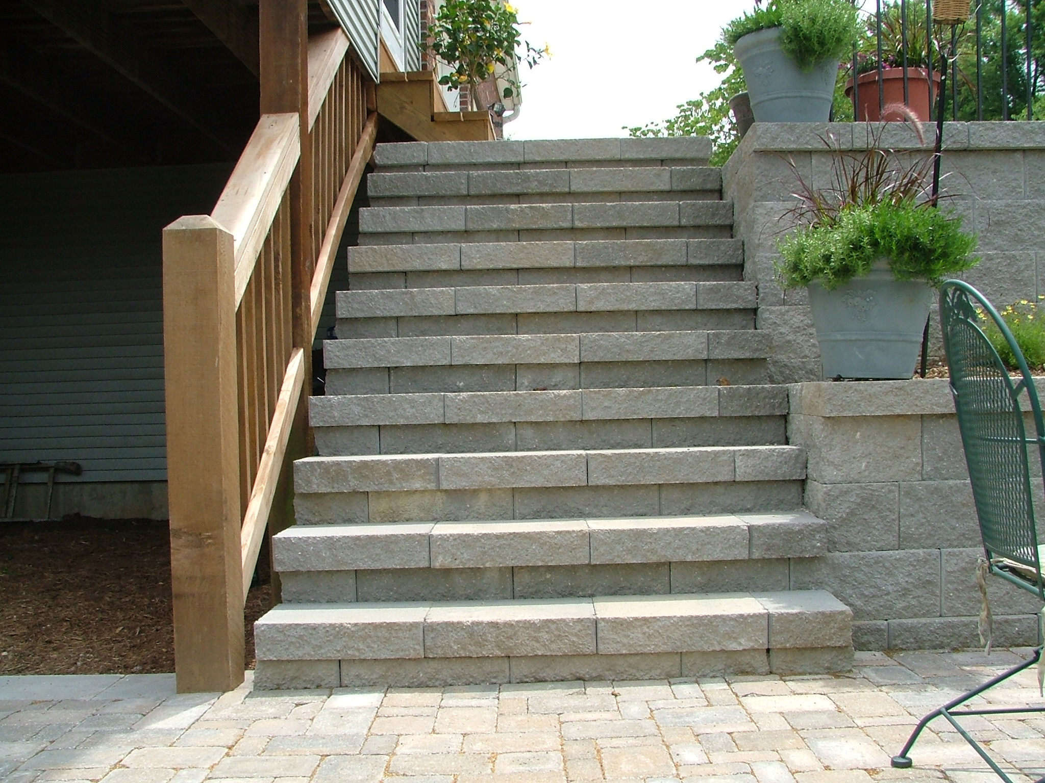 Retaining wall steps album 4 for Steps to designing a house
