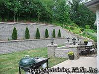 Rockwood Retaining Walls Colonial Terrace Stonehenge Pillars Pavers