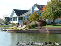 water application retaining walls