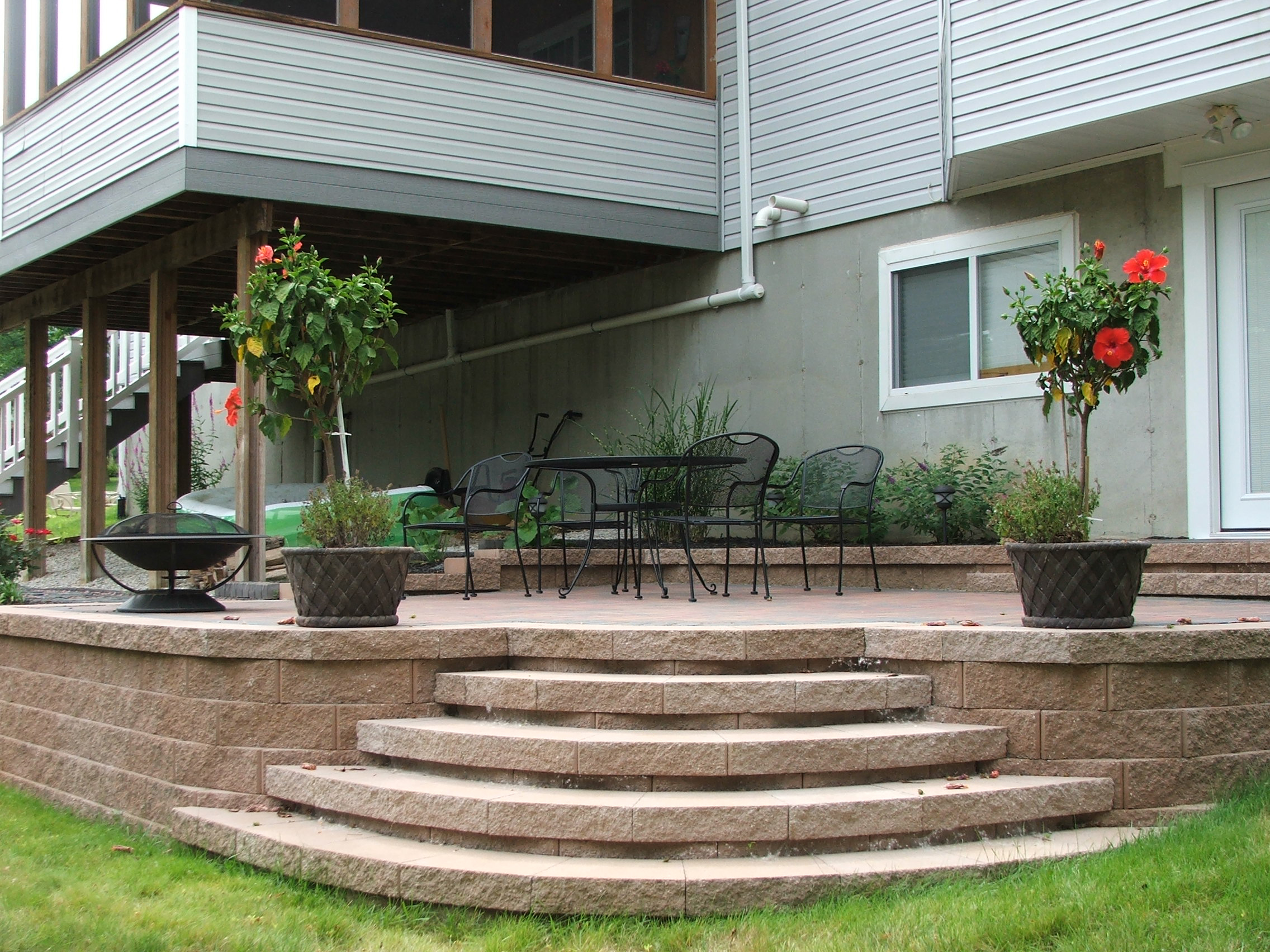 Retaining wall steps album 1 for Steps to start building a house
